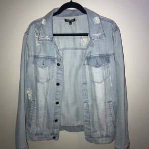 men's ripped jean jacket
